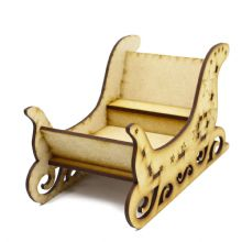 Large Santas Sleigh Wooden Christmas Decoration Sweet Holder - optional name